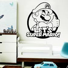 Best Price 092c9 Cute Super Mario Wall Decal Wall Sticker For Kids Room Decoration Stickers Gaming Wallpaper For Boys Gaming Room Vinyl Stickers Cicig Co