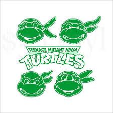 Teenage Mutant Ninja Turtles Vinyl Single Color Decals Car Decal Window Decal Set Leonardo Michelangel Vinyl Decals Turtle Silhouette Teenage Mutant Ninja
