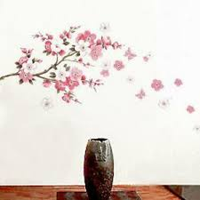 Removable Peach Plum Cherry Blossom Flower Butterfly Mural Wall Decal Stickers Q Ebay