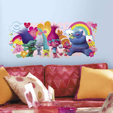 Roommates Trolls Movie Peel And Stick Giant Wall Decals Multicolor Amazon Com