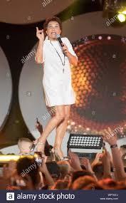 Angela Brambati of Ricchi e Poveri in concert in Gdansk Poland ...