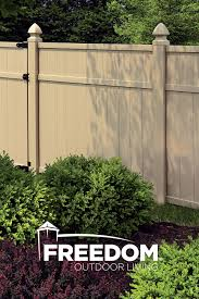 Brighton 6x6 Vinyl Privacy Fence Panel Vinyl Fence Freedom Outdoor Living For Lowes Vinyl Privacy Fence Privacy Fence Panels Outdoor Living