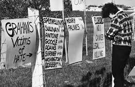 Florida Memory A Death Penalty Protester At The Fence Across The Field From Florida State Prison