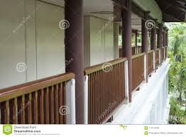 Brown Wooden Fence Terrace And Walk Way Stock Photo Image Of Porch Verandah 115713208