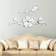 Mirror Butterflies Wall Stickers Decal Mural Art Mirror Butterflies Wall Decals Autoiq Co