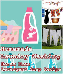 borax free detergent soap recipe