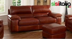 napoli large 3 seater leather sofa