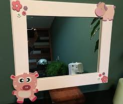 pink animals wall mirror great for