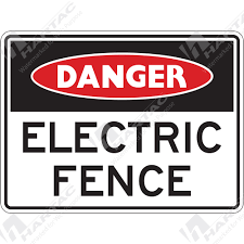 Electrical Signs Danger Sign Electrical Electric Fence Company Name Hartac Australia