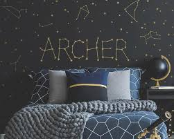 Personalized Constellation Name Wall Decal Set In 2020 Space Themed Room Space Themed Bedroom Outer Space Room
