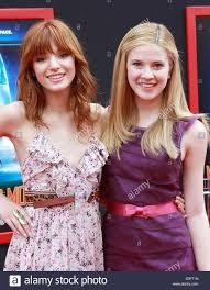 Bella Thorne (L) and Caroline Sunshine at the Los Angeles premiere ...