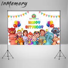 الفينيل كوكوملون الأسرة موضوع صورة الخلفيات مخصص الأطفال عيد ميلاد