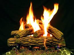 outdoor gas fire pit fake logs wood for