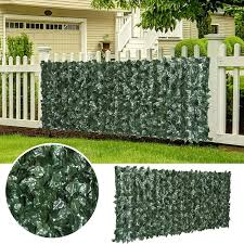 An 3m Garden Artificial Ivy Leaf Hedge Fence Wall Balcony Privacy Screening Roll Amazon Co Uk Garden Outdoors