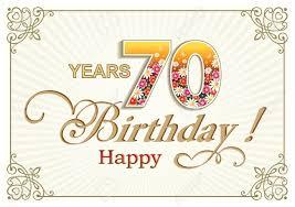 Tarjeta De Felicitacion De Cumpleanos De 70 Anos En El Contexto De