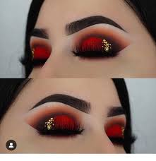 amazing black and red eye makeup