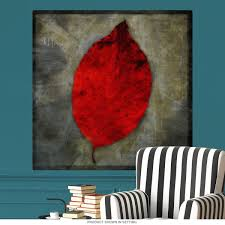 Red Dogwood Tree Leaf Wall Decal At Retro Planet