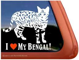 Amazon Com I Love My Bengal Cat Vinyl Window Decal Sticker Automotive