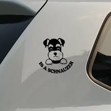 Schnauzer Car Styling Car Accessories Reflective Type Car Stickers Motorcycle Stickers Decals Wish