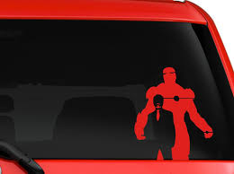 Iron Man Tony Stark Avengers Marvel Superhero Car Suv Decal Sticker 8 Red