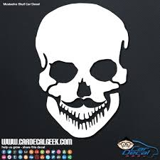 Mustache Skull Car Decal Graphic Window Stickers