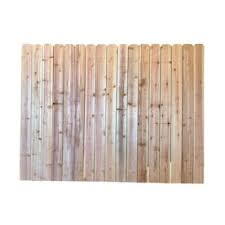 6 Ft H X 8 Ft W Redwood Dog Ear Fence Panel In The Wood Fence Panels Department At Lowes Com