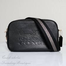 coach bowery black cross leather