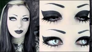 simple striking goth makeup tutorial