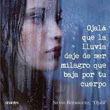 """Anantes Gestoría Cultural - Silvio Rodríguez, """"Ojalá"""" Ojalá que las hojas no te toquen el cuerpo Cuando caigan Para que no las puedas convertir en cristal Ojalá que la lluvia deje de"""