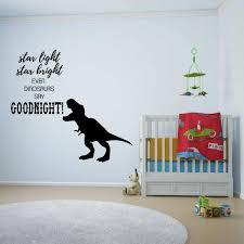 T Rex Goodnight Wall Decal Vinyl Decor Wall Decal Customvinyldecor Com