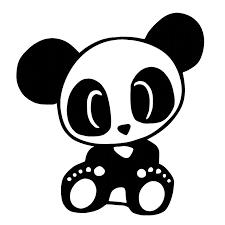 Panda Vinyl Decal Sticker Animal Bear Window Car Laptop Choose Color