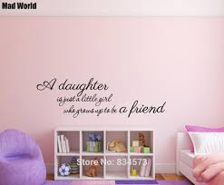 Mad World A Daughter Is Just A Little Girl Wall Art Stickers Wall Decal Home Diy Decoration Removable Room Decor Wall Stickers Wall Sticker Decorative Wall Stickerswall Art Stickers Aliexpress