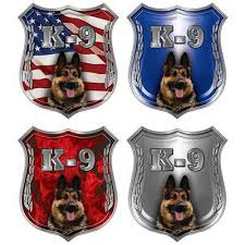 Weston Ink German Shepherd K 9 Police Dog Decas