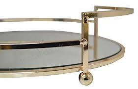 gold metal circular round shape serving