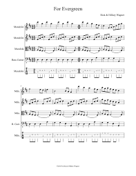 For Evergreen by Rick and Hillary Wagner Sheet music for Guitar, Bass |  Download free in PDF or MIDI | Musescore.com