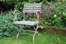antique french folding garden arm chair