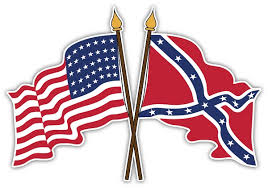 Crossed American And Confederate Flags Die Cut Decal 4 Si
