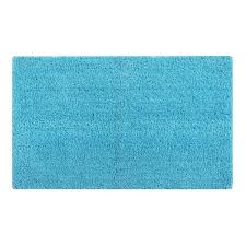 teal 24 in x 40 in cotton bath rug