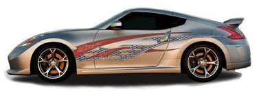 Rock Star Automotive Vinyl Graphics Universal Fit Decal Stripes Kit Pictured With Two Door Sports Car Vinylgraphicspro Vinyl Graphics Stripes Decal Kits