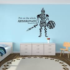 Christian Scripture Wall Decal Vinyl Put On The Whole Armor Of God Bible Verse Boys Bedroom Decor Sticker Removable Mural Walls Stickers White Tree Wall Stickers From Joystickers 12 66 Dhgate Com