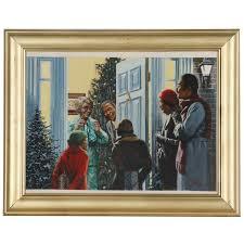 Felix Cole Holiday Theme Gouache Painting | EBTH