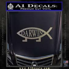 Darwin Jesus Fish Decal Sticker A1 Decals