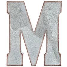 galvanized metal letter wall decor m