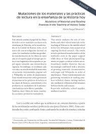 PDF) Mutaciones de los materiales y las prácticas de lectura en la  enseñanza de la Historia hoy