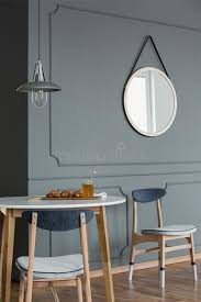 mirror and dining table stock image