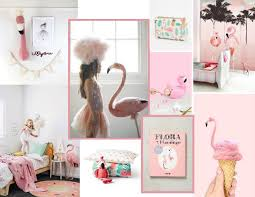 Bojana Bajac S Flamingo Inspired Kids Room Mood Board Moodboard Sampleboard