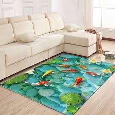 north europe style rug lotus pond