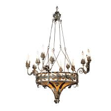 large french wrought iron chandelier