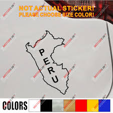 Peru Map Country Outline Decal Sticker Car Vinyl Pick Size Color No Bkgrd Car Stickers Aliexpress