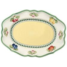french garden fleurence ovale platte 37